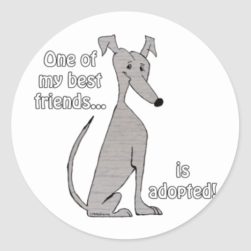 Adopted~BlueBrindle Stickers