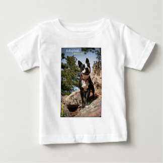 Adopted. Boston Terrier Baby T-Shirt