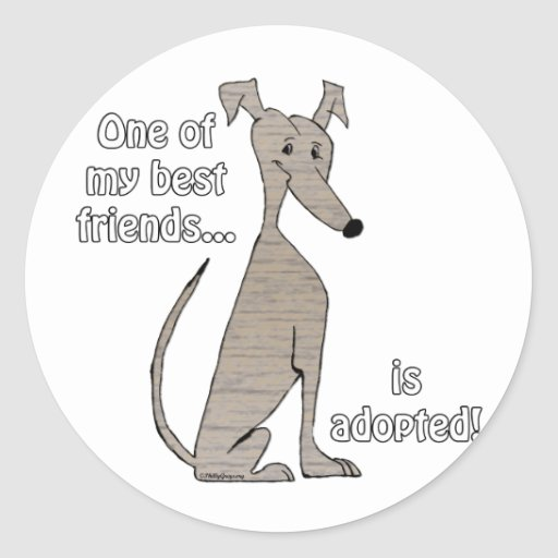 Adopted~Brindle Stickers