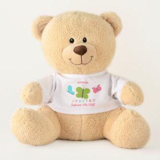 Adopted Butterfly Adoption - Custom Name Teddy Bear