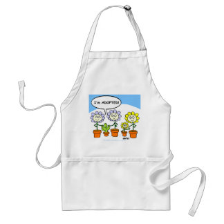 Adopted Cactus Cartoon Cute Apron