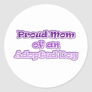 Adopted Dog Classic Round Sticker