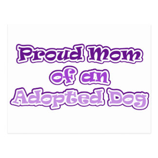 Adopted Dog Postcard