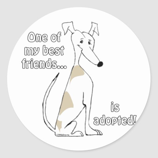 Adopted~FawnandWhite Stickers