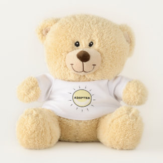 Adopted - Forever Family - Adpotion Design Teddy Bear