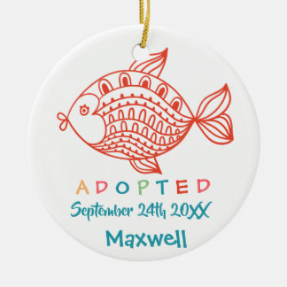 Adopted from Foster Care Fish - Custom Name Ceramic Ornament
