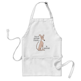 Adopted~Red Adult Apron