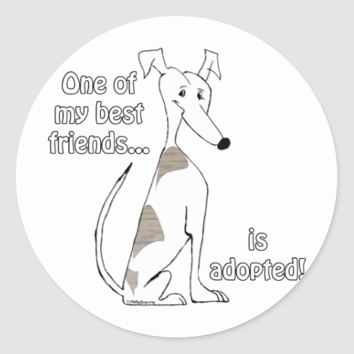 Adopted~WhitewithBrindle Stickers