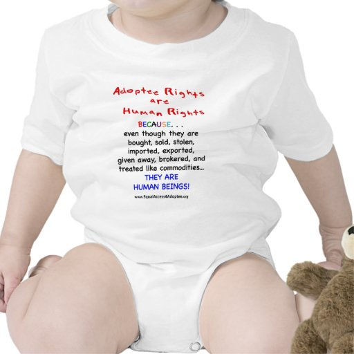 Adoptee Rights Are HUMAN Rights Rompers