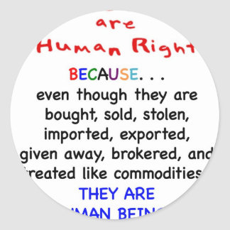 Adoptee Rights Are HUMAN Rights Classic Round Sticker