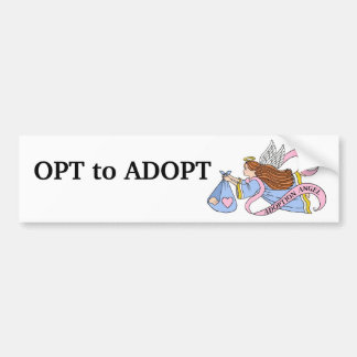 Adoption Angel Car Bumper Sticker
