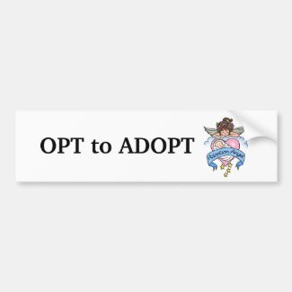 Adoption Angel of Love Bumper Sticker