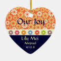 Adoption Announcement Keepsake Christmas Tree Ornaments