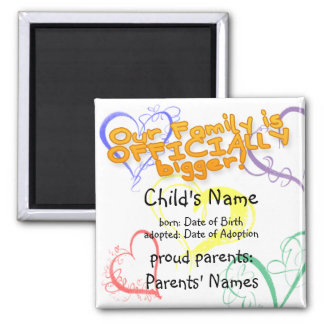 Adoption Announcement Magnet