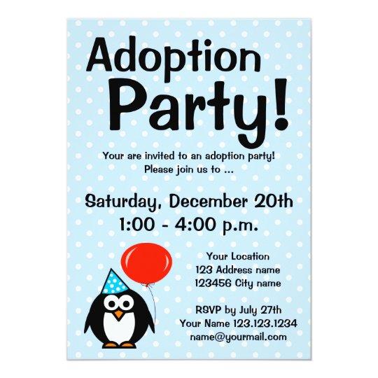 adoption announcement party invitations zazzle com