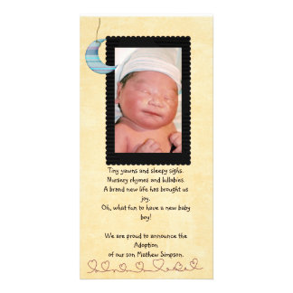 adoption announcement photocard personalized photo card