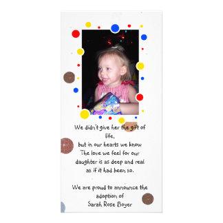 adoption announcement photocard photo card template