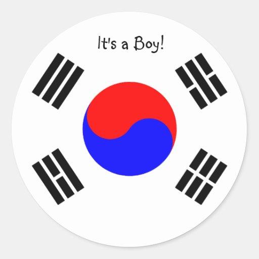 Adoption Announcement Stickers- South Korea, boy
