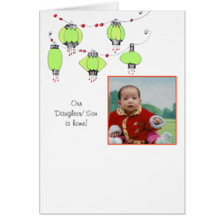 Adoption Announcement w/lanterns Stationery Note Card