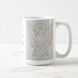 Child Adoption Awareness White Ribbon Angel Mug