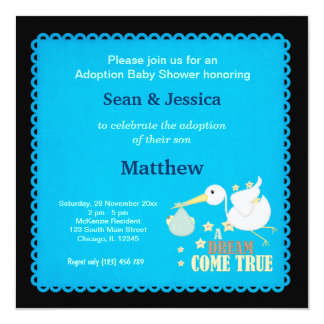 Adoption Baby Shower Boy Card