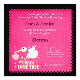 Adoption Baby Shower Girl Card