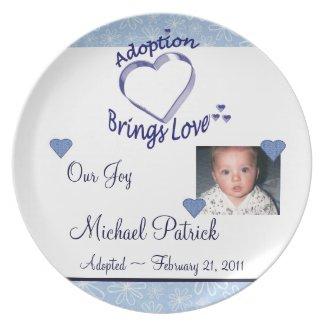 Adoption Brings Love Custom PHOTO Plate