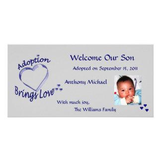 Adoption Brings Love Heart Photo Card