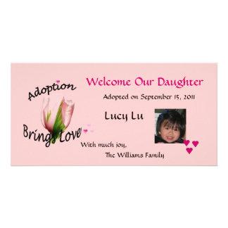 Adoption Brings Love Photo Card