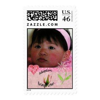 Adoption Brings Love Photo Postage Stamp