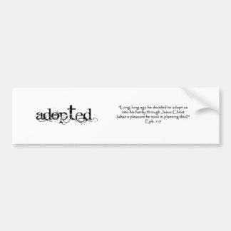 Adoption Bumper Sticker
