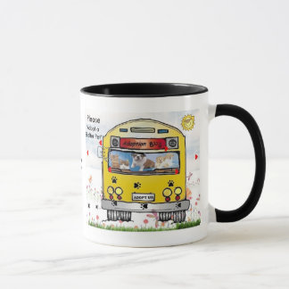 Adoption Bus Dog & Cat  Mug - Customized