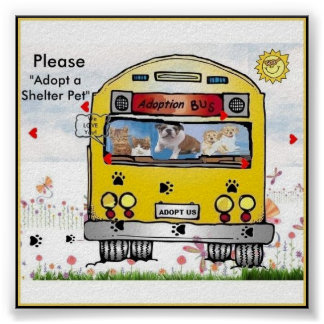 Adoption Bus for Cat's & Dog's Poster