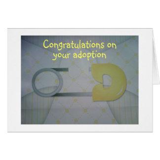 ADOPTION CONGRATULATIONS=LOVE & CUDDLES CARD