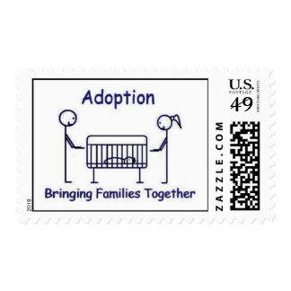 Adoption Crib Blue Postage Stamps