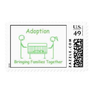 Adoption Crib Green Postage Stamp