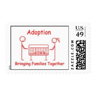 Adoption Crib Red Postage Stamps