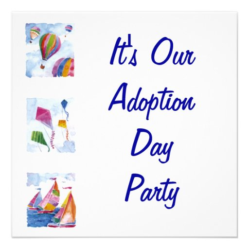 Personalized Adoption baby shower Invitations – Adoption Party Invitations