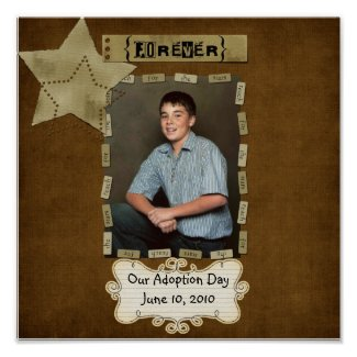 adoption day poster print