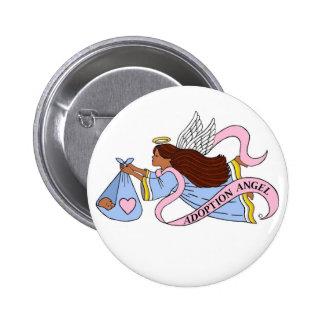Adoption Ethnic Angel Buttons