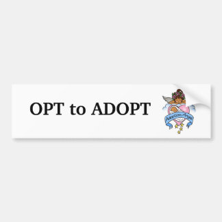 Adoption Ethnic Angel of Love Bumper Stickers