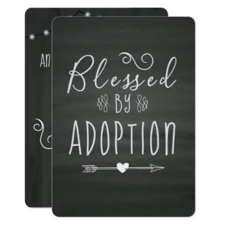 Adoption From Foster Care Announcment- Party Card