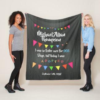 Adoption From Foster Care Custom Fleece Blanket