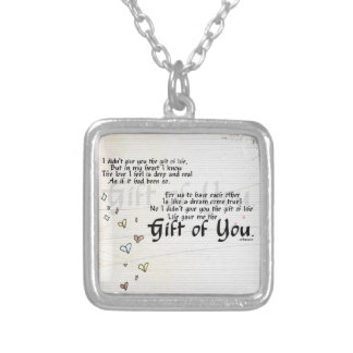 adoption gifts silver plated necklace