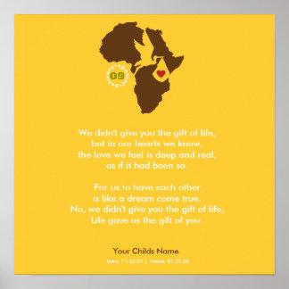 Adoption Gotcha Day - Commemorative Poem Poster