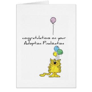 Finalization day greeting cards zazzle adoption greeting card m4hsunfo