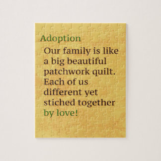 Adoption is a Patchwork Jigsaw Puzzle