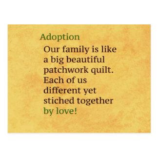 Adoption is a Patchwork Postcard