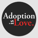 Adoption Is Love Classic Round Sticker