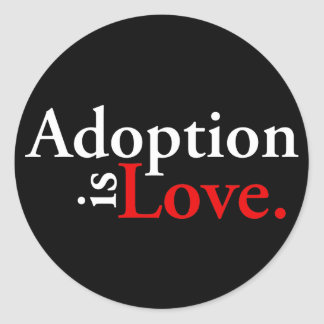 Adoption Is Love Classic Round Sticker